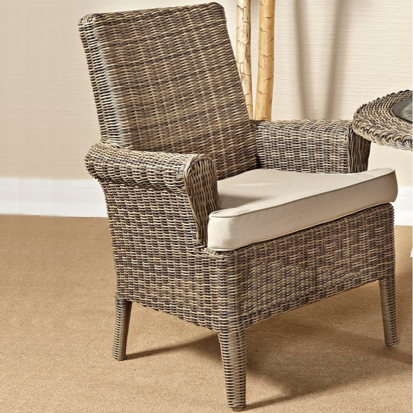 South Sea Rattan Provence Wicker Dining Chair