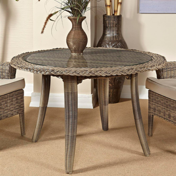 South Sea Rattan Provence Wicker Dining Table