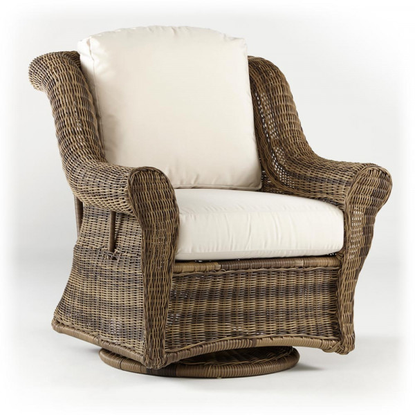 South Sea Rattan Provence Wicker Swivel Glider