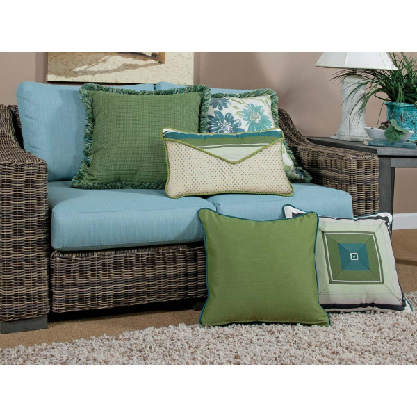 South Sea Rattan All Weather Baltic 5 Piece Throw Pillow Set