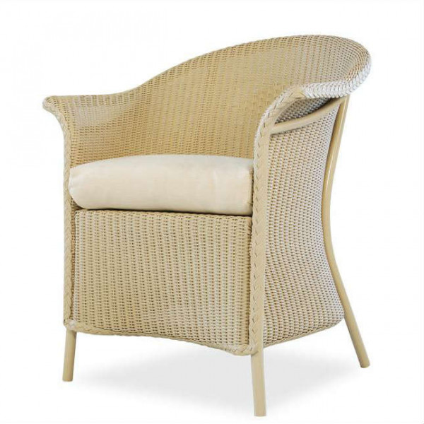 Lloyd Flanders Wicker Dining Chair with Full Skirt