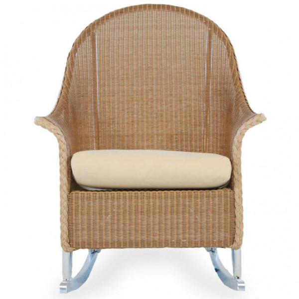 Lloyd Flanders Wicker Highback Rocking Chair