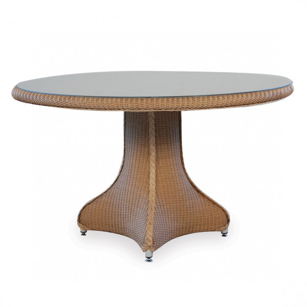 "Lloyd Flanders 48"" Round Wicker Dining Table"