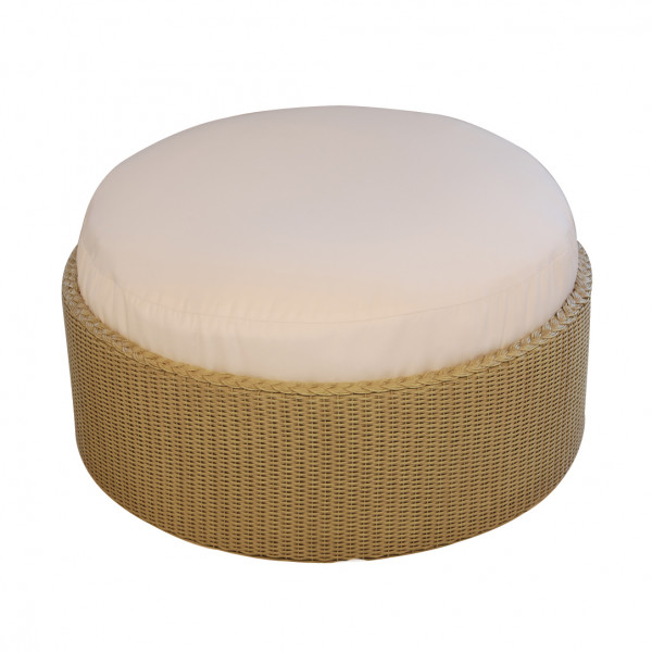 Lloyd Flanders Round Wicker Ottoman - Replacement Cushion