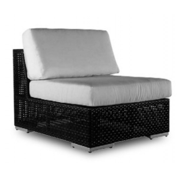 Hospitality Rattan Soho Wicker Armless Lounge Chair