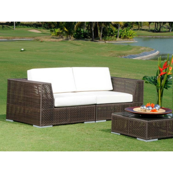 Hospitality Rattan Soho Wicker Loveseat