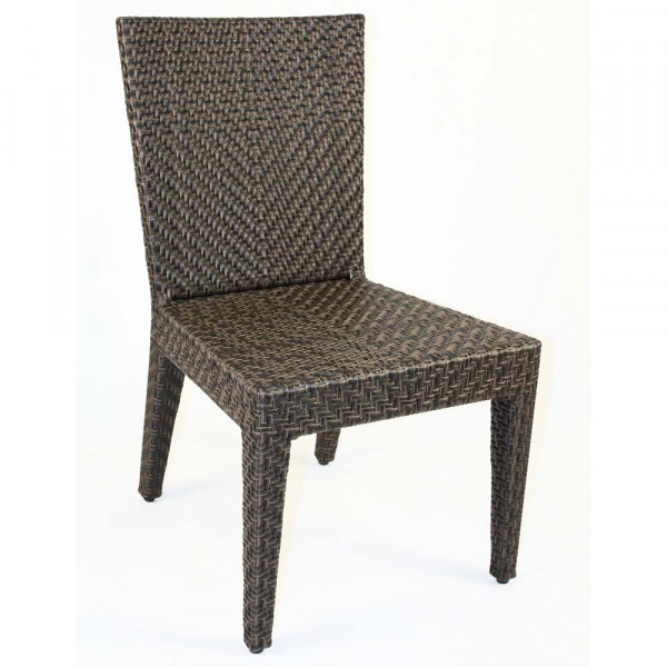 Hospitality Rattan Soho Wicker Armless Dining Chair