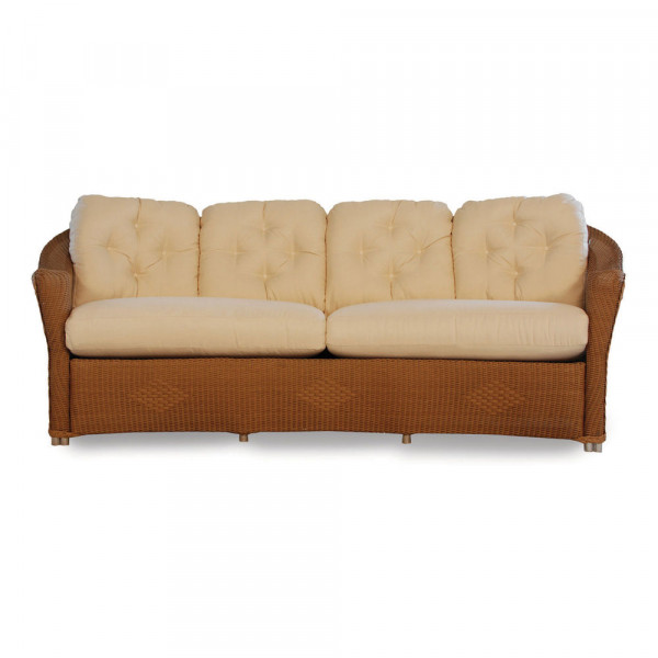 Lloyd Flanders Reflections Wicker Curved Sofa