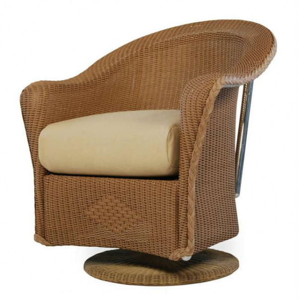 Lloyd Flanders Reflections Wicker Swivel Dining Chair