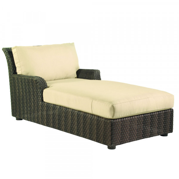 WhiteCraft by Woodard Aruba Wicker Chaise Lounge