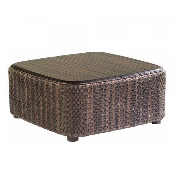 WhiteCraft by Woodard Aruba Wicker Cocktail Table