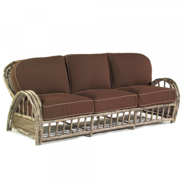 WhiteCraft by Woodard River Run Wicker Sofa