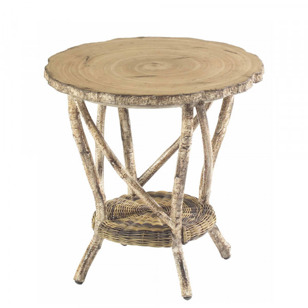 WhiteCraft by Woodard River Run Wicker End Table