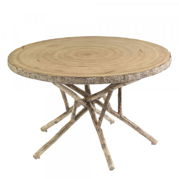 """WhiteCraft by Woodard River Run Round 48"""" Heartwood Dining Table"""