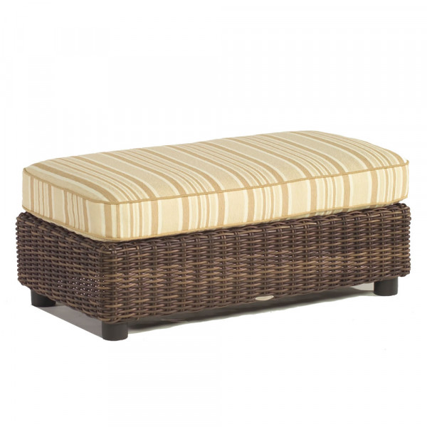 WhiteCraft by Woodard Sonoma Large Wicker Ottoman