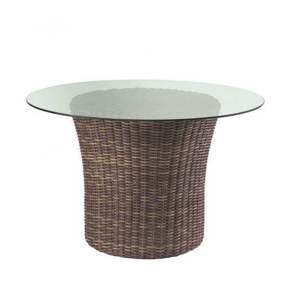 "WhiteCraft by Woodard Sonoma Round 48"" Wicker Dining Table"