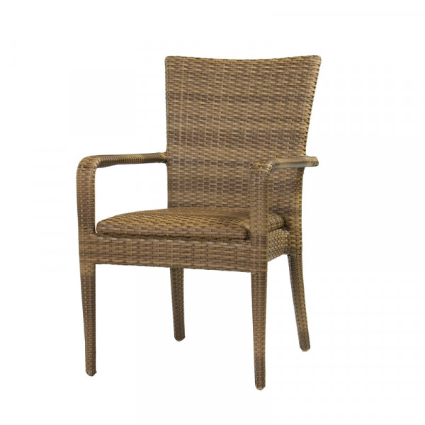 WhiteCraft by Woodard Padded Wicker Dining Chair