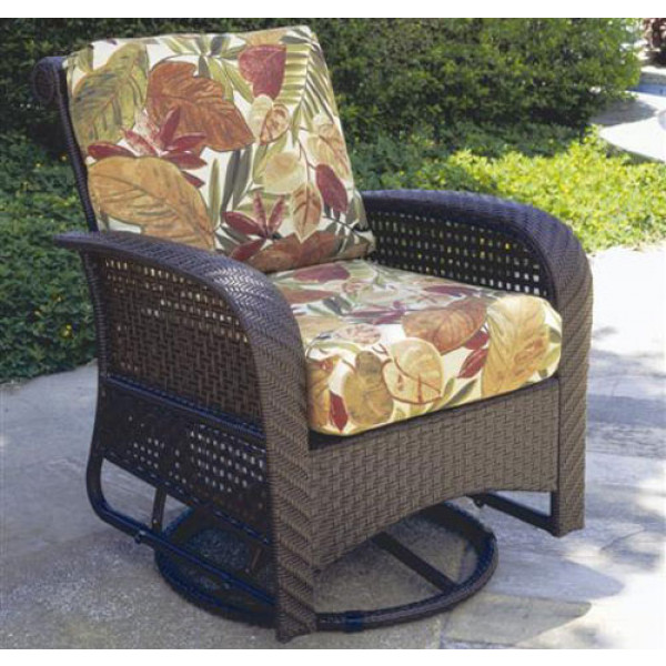 South Sea Rattan Martinique Wicker Swivel Glider