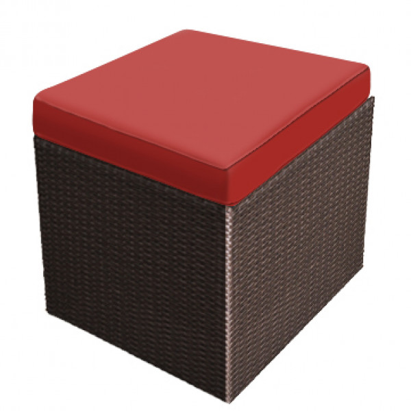 Forever Patio Barbados Wicker Cube Ottoman