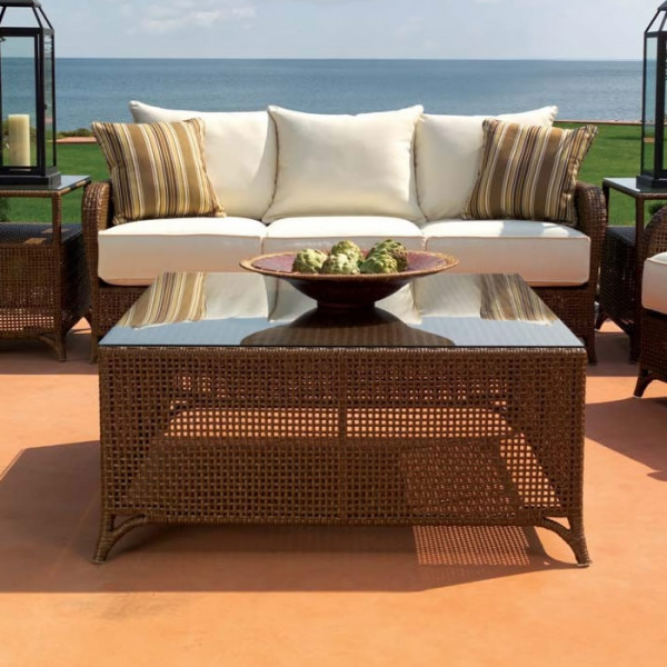 "Lloyd Flanders Carmel 40"" Wicker Cocktail Table"