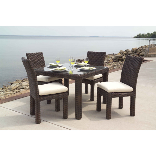 Lloyd Flanders Contempo 5 Piece Wicker Dining Set