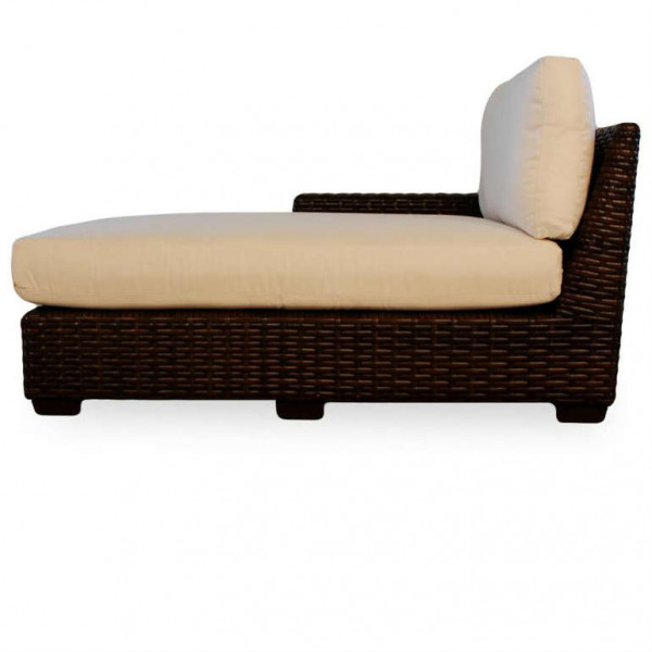 Lloyd Flanders Contempo Left Arm Facing Wicker Chaise Lounge - Replacement Cushion