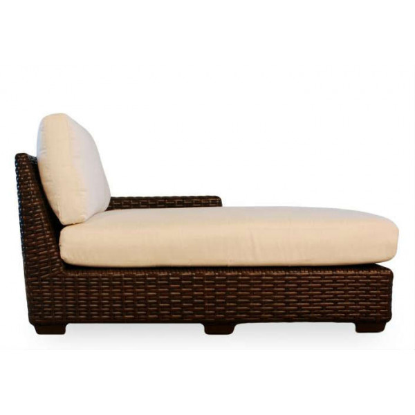 Lloyd Flanders Contempo Right Arm Facing Wicker Chaise Lounge