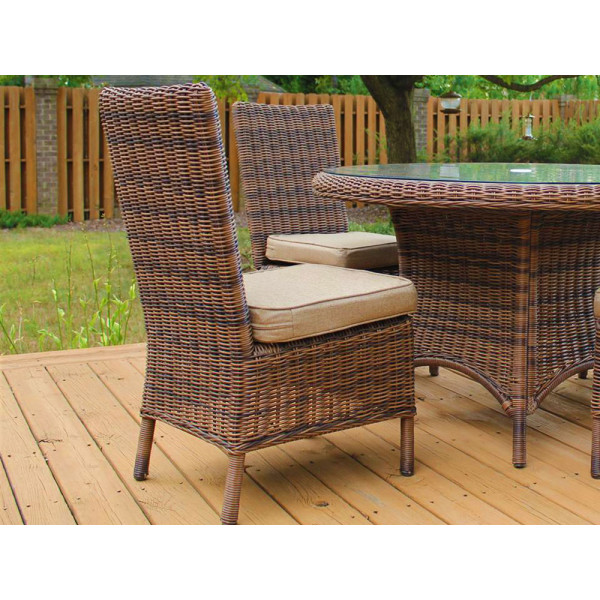 South Sea Rattan Del Ray Armless Wicker Dining Chair