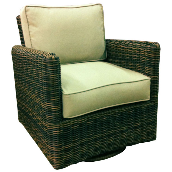 South Sea Rattan Del Ray Wicker Swivel Glider