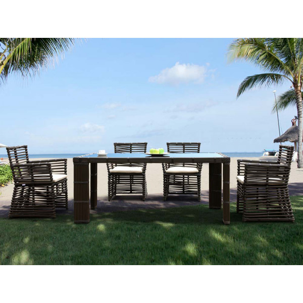 Sunset West Venice 5 Piece Wicker Dining Set