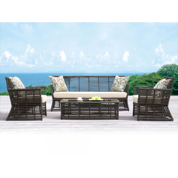 Sunset West Venice 4 Piece Wicker Conversation Set