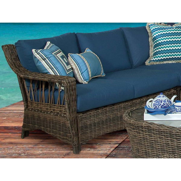 South Sea Rattan Saint John Left Arm Facing Wicker Loveseat