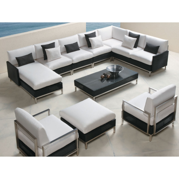 Lloyd Flanders Elements 9 Piece Wicker Sectional Set