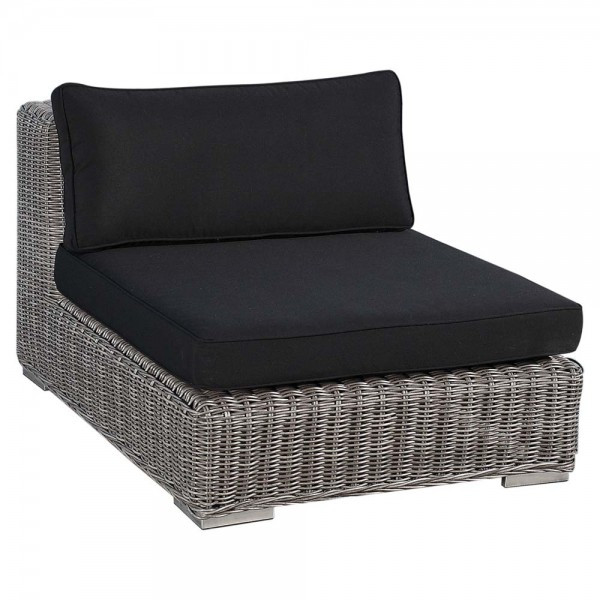 Sunset West Emerald Armless Wicker Lounge Chair - Replacement Cushion