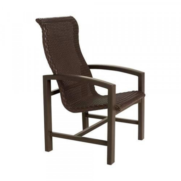 Tropitone Lakeside Woven Highback Wicker Dining Chair
