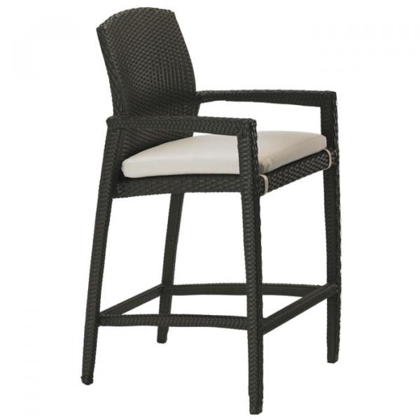 "Tropitone Evo Woven 28"" Wicker Bar Chair"