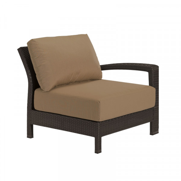 Tropitone Evo Woven Right Arm Facing Wicker Lounge Chair