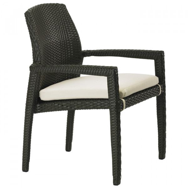 Tropitone Evo Woven Wicker Dining Chair