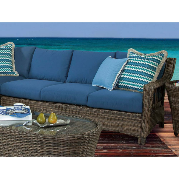 South Sea Rattan Saint John Right Arm Facing Sofa Sectional