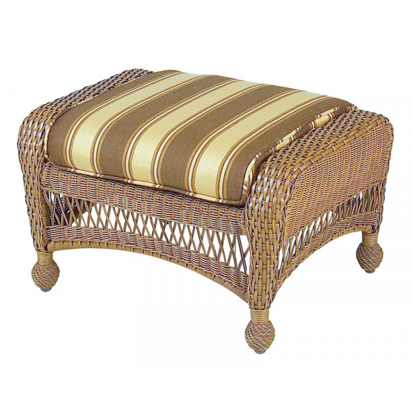 Longboat Key Casa Del Mar Wicker Ottoman