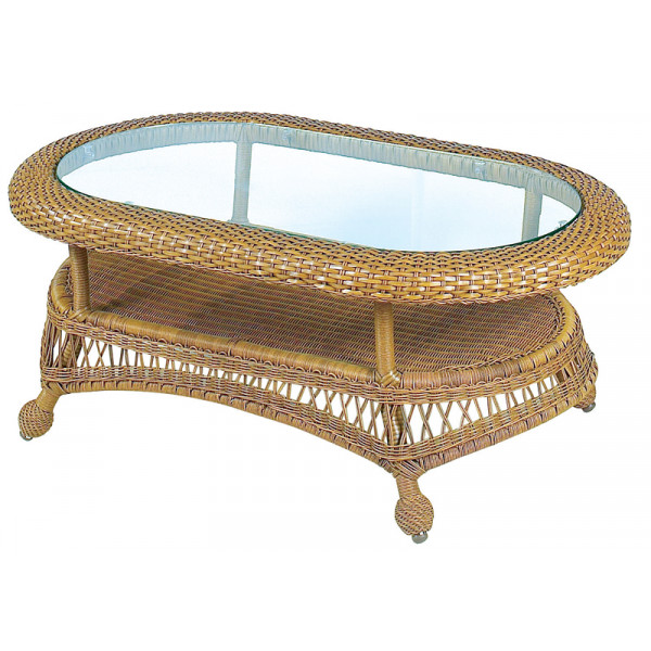 Longboat Key Casa Del Mar Wicker Coffee Table