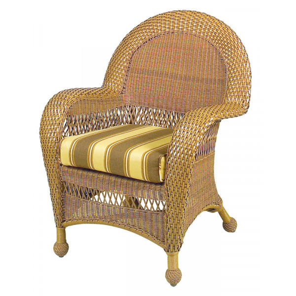 Longboat Key Casa Del Mar Wicker Dining Chair
