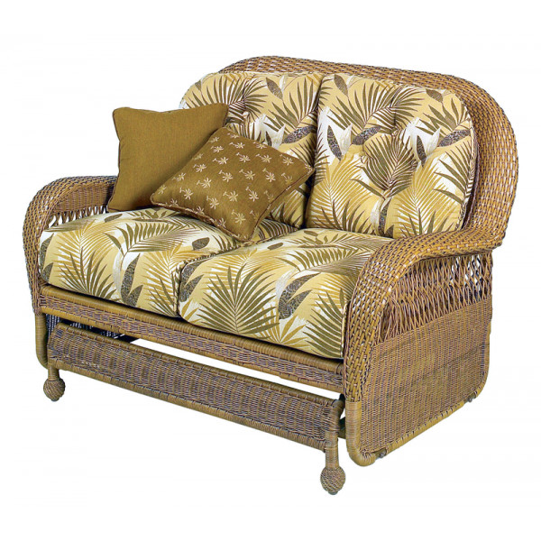 Longboat Key Casa Del Mar Wicker Loveseat Glider