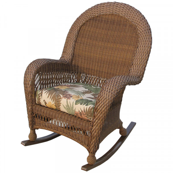 Longboat Key Casa Del Mar Highback Wicker Rocking Chair