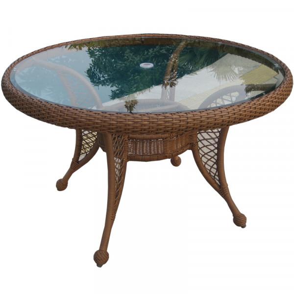 "Longboat Key Casa Del Mar 48"" Round Wicker Dining Table"