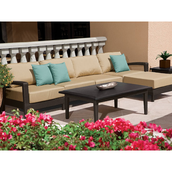 Tropitone Evo 7 Piece Wicker Sectional Set