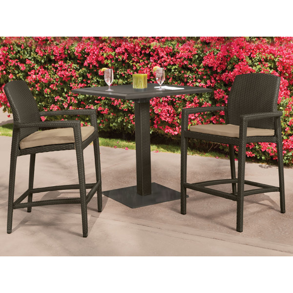Tropitone Evo 3 Piece Wicker Pub Set