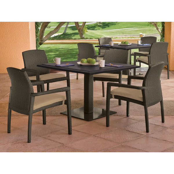 Tropitone Evo 5 Piece Wicker Dining Set