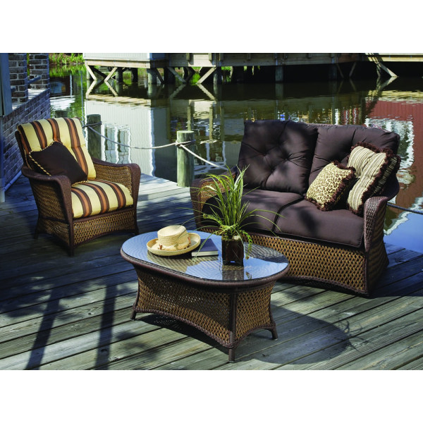 Lloyd Flanders Grand Traverse 3 Piece Wicker Conversation Set