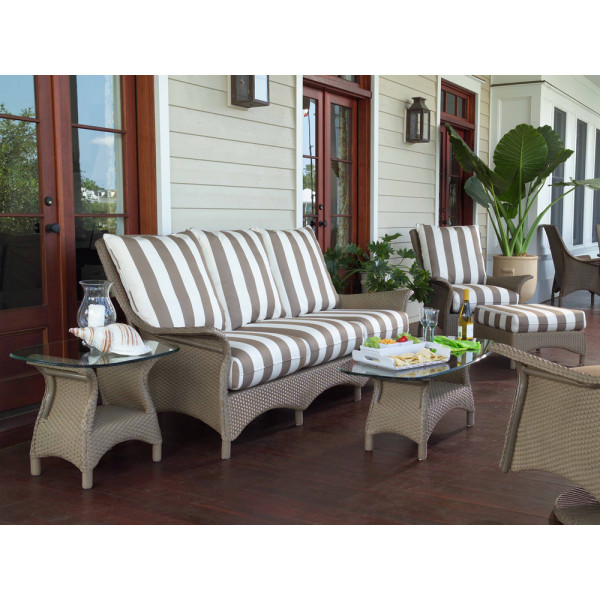 Lloyd Flanders Mandalay 5 Piece Wicker Conversation Set